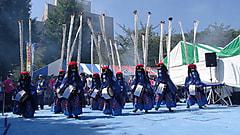 支援通信   伝統芸能・鹿踊りチーム招待  気仙沼市立月立小学校