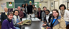 日本語学習者が 田道小学校の1年生と交流