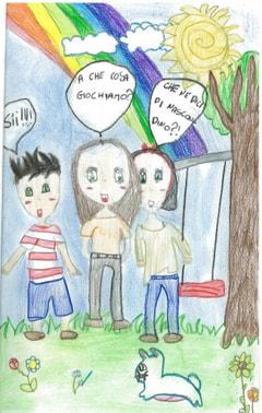 コスモス通信 イタリアの子どもたちからの絵